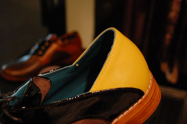 Patent Yellow Shoe Quarter.