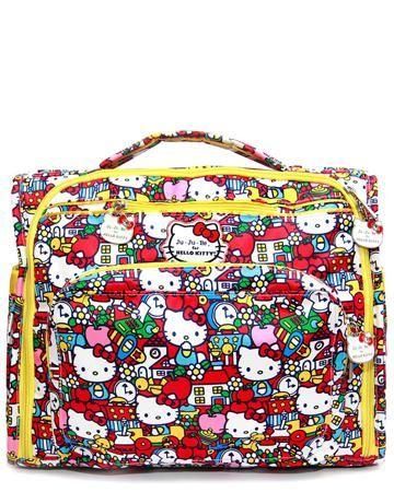 Hello Kitty для мамы B.F.F. hello kitty tick tok  — 12750р. ---- Сумка-рюкзак для мамы B.F.F. hello kitty tick tok Ju Ju Be - стильная и вместительная модель с 2 отделениями и множеством карманов. Устойчива к загрязнениям. Поставляется со съемными лямками и съемным плечевым ремнем.