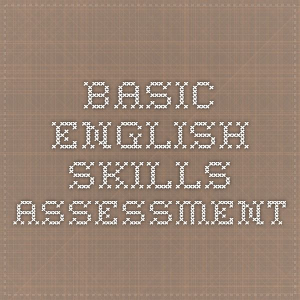 48 best esls images on pinterest student centered resources basic english skills assessment fandeluxe Images