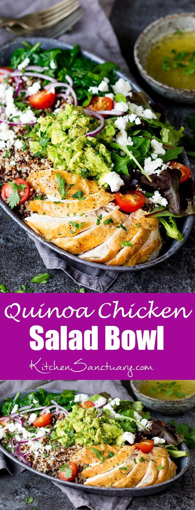 This chicken and quinoa salad makes a fantastic energy-boosting lunch!