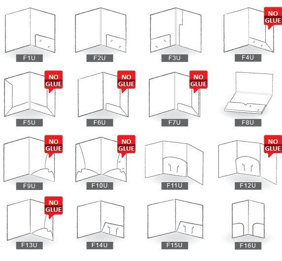 Modèle de pochette de présentation / corporate folder idea