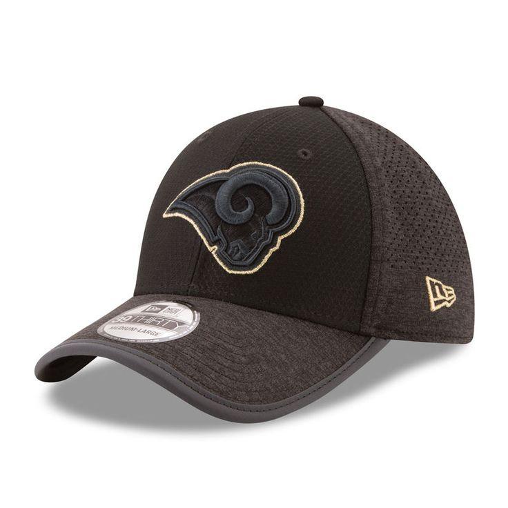 Los Angeles Rams New Era 2017 Training Camp 39THIRTY Flex Hat - Black