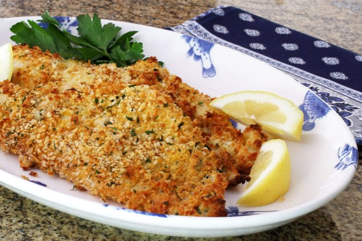 Panko Crusted Oven Fried Haddock