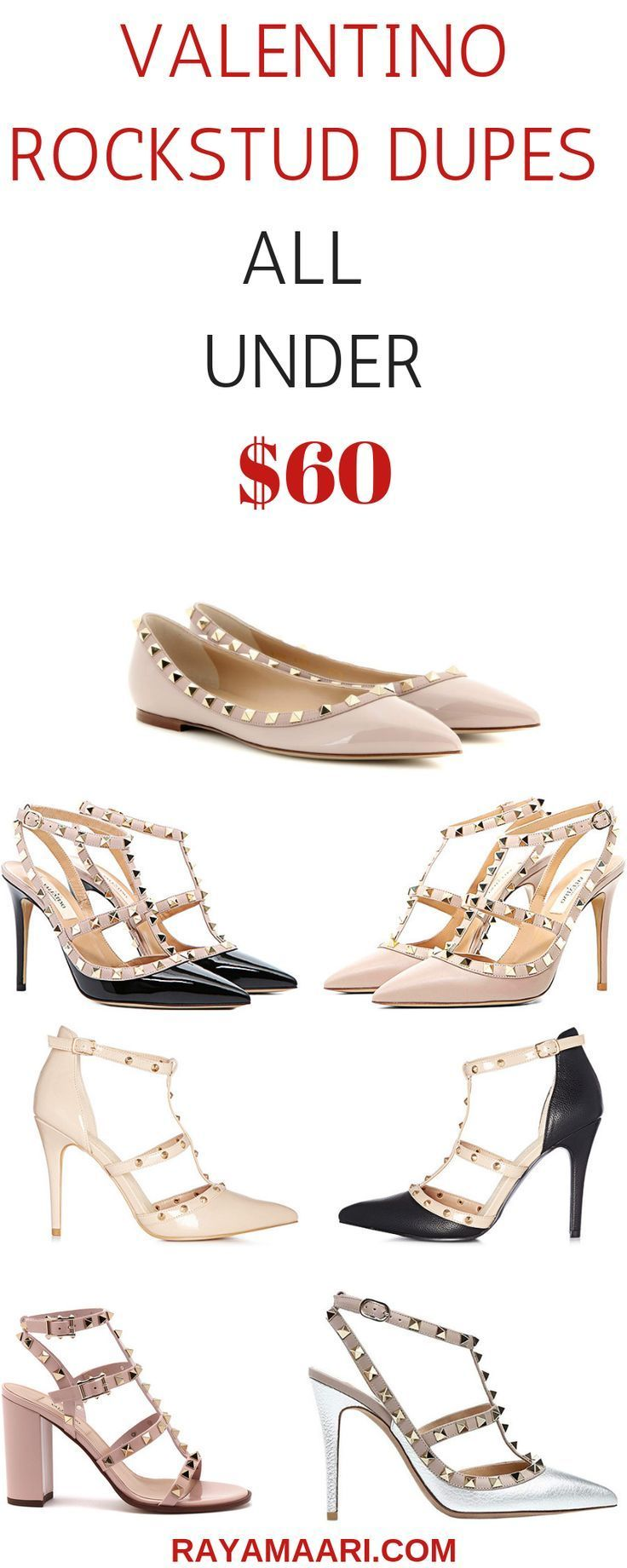valentino rockstud dupes, look for less