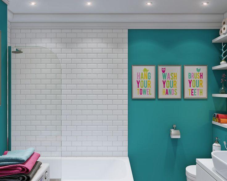 ванная комната в дизайне интерьера маленькой квартиры-студии 24 кв. м.