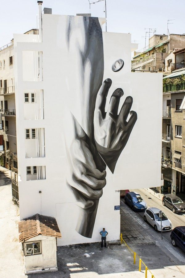"INO ""WAKE UP"" New Mural in Athens, Greece' 2014 