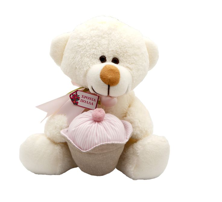 Birthday girls of all ages will love this romantic Bear holding a colorful cupcake. #happy_birthday #gift #teddy_bear
