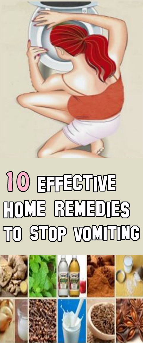 10 Effective Home Remedies To Stop Vomiting Maybe is a cause of a hangover, some food poisoning or a stomach bug. Anyhow, vomiting can sap you of energy and leave you feeling miserable.There are some home remedies that you can use to ease vomiting and to make yourself feel better.