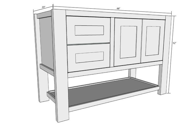 """48"""" bathroom vanity plans We are want to say thanks if you ..."""