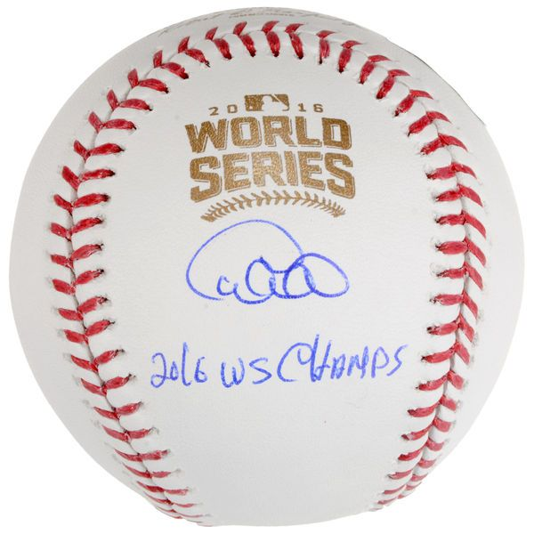 Willson Contreras Chicago Cubs Fanatics Authentic 2016 MLB World Series Champions Autographed World Series Logo Baseball with 2016 WS Champs Inscription - $249.99