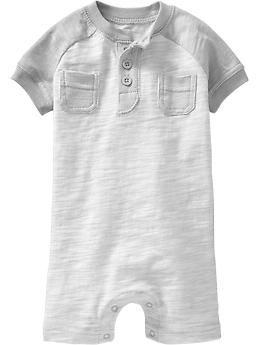 Henley Short One-Pieces for Baby | Old Navy  The perfect hot Summer day outfit