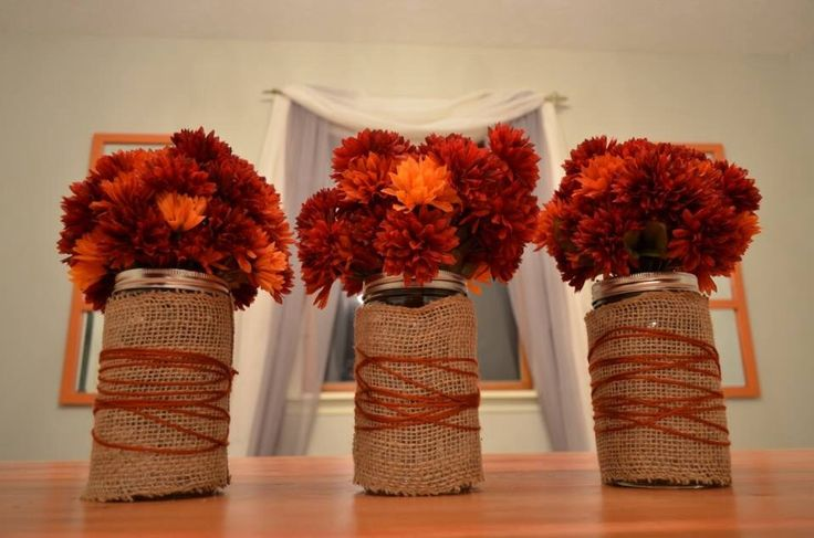 Best images about fall centerpiece on pinterest mason