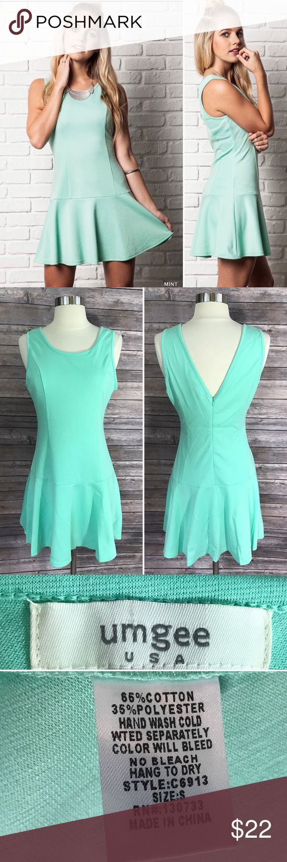 NEW Umgee Dress Mint Green Solid Fit Flare S M L Comfortable and stylish Umgee dress in mint green. Available in Small, Medium, and Large. See photos for size chart. Umgee Dresses