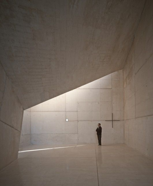 Chapel in Villeaceron, Spain. Architect: Sancho-Madridejos Architecture Office
