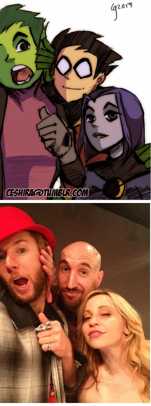 Beast Boy, Robin & Raven/Voice Actors [Greg Cipes, Scott Menville, Tara Strong]