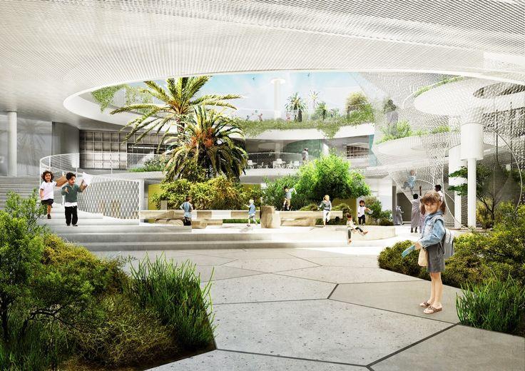 CEBRA and SLA Design a School for The Sustainable City in Dubai,Courtesy of CEBRA (Architecture) & SLA (Landscape)