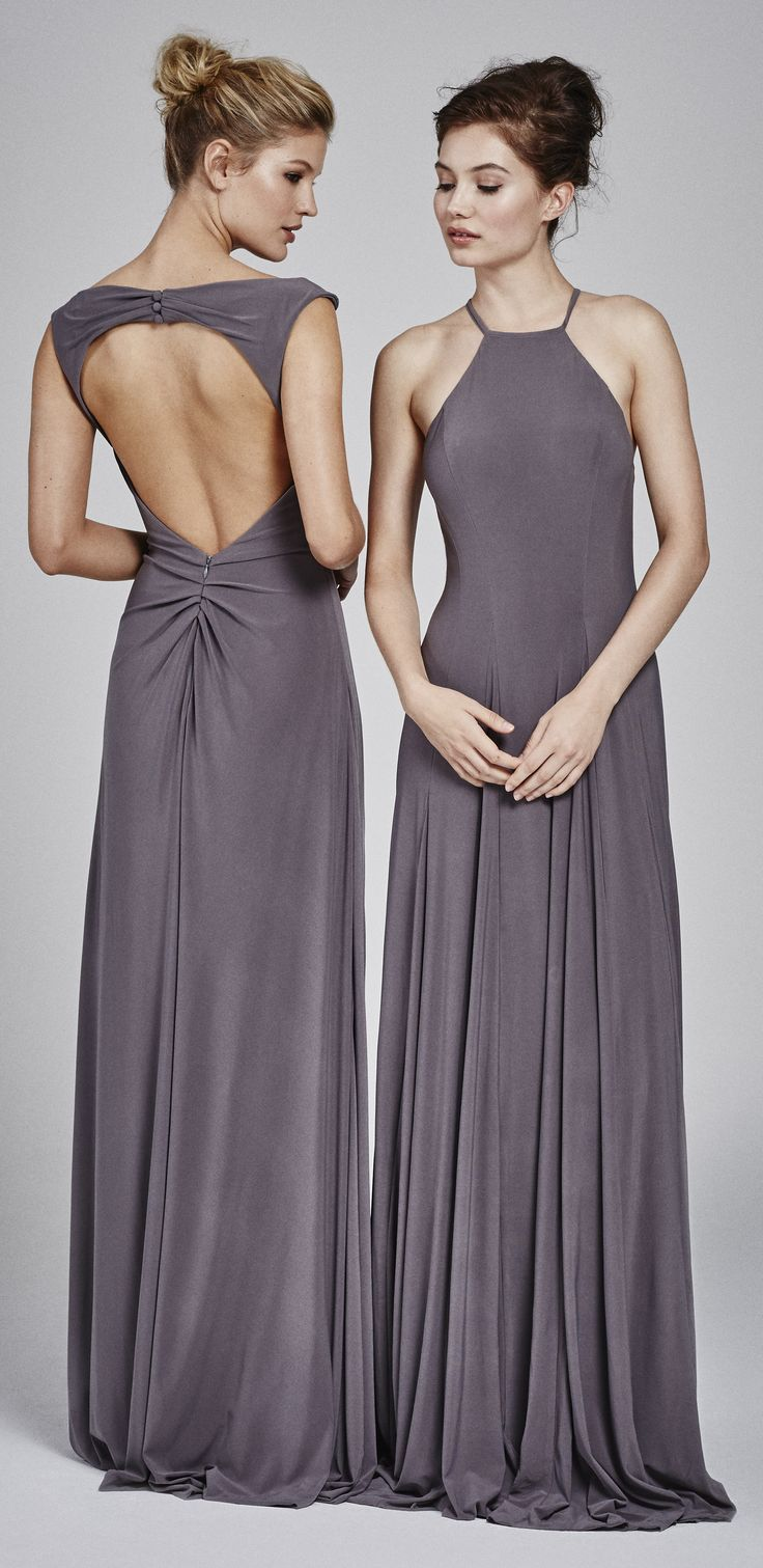 47 best fall 2017 bridesmaids dresses images on pinterest kelly faetanini bridesmaids 3 charcoal bridesmaids dresses in jersey with open back and halter neckline ombrellifo Image collections