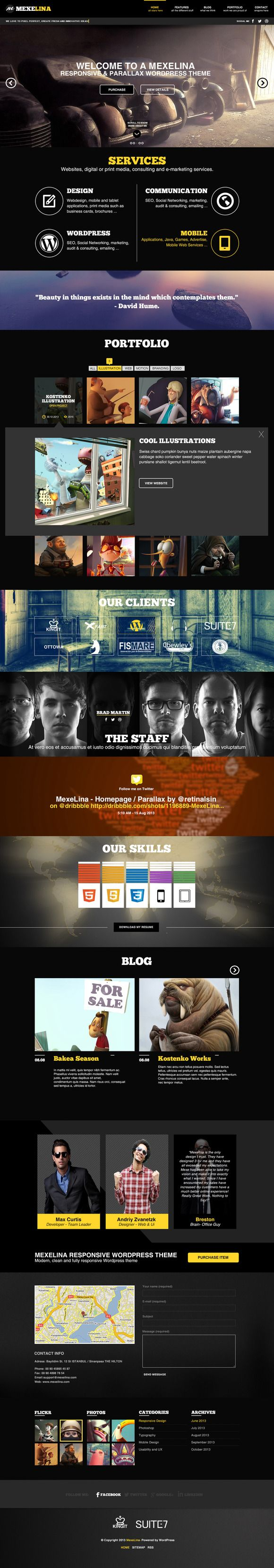 Check out Mexelina - Onepage Parallax Template by Mostar on Creative Market