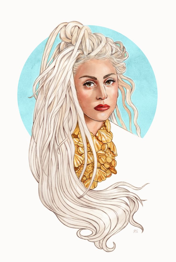 Lady Gaga with dreads by Helen Green