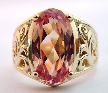 I fell in love with pink Imperial Topaz when I traveled to Brazil.  This would be equally beautiful in platinum or white 14K.