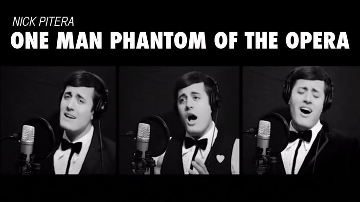 One Man Phantom of the Opera (Medley Cover) Andrew Lloyd Webber Nick Pitera! OMGosh!!! I got SO excited when I found this video. =)