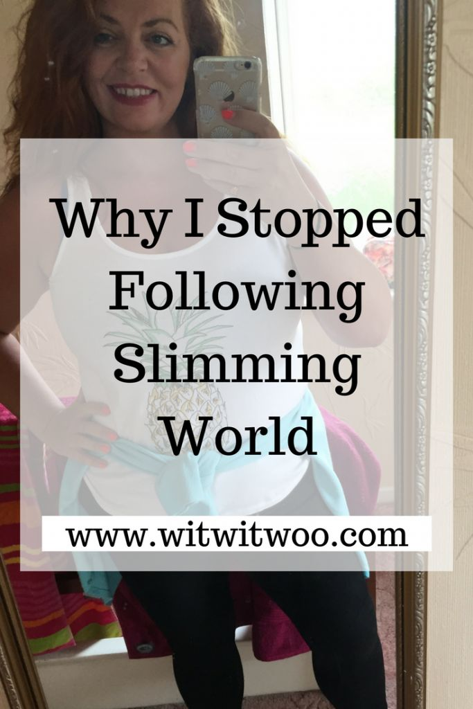 Here's why I stopped following Slimming World.