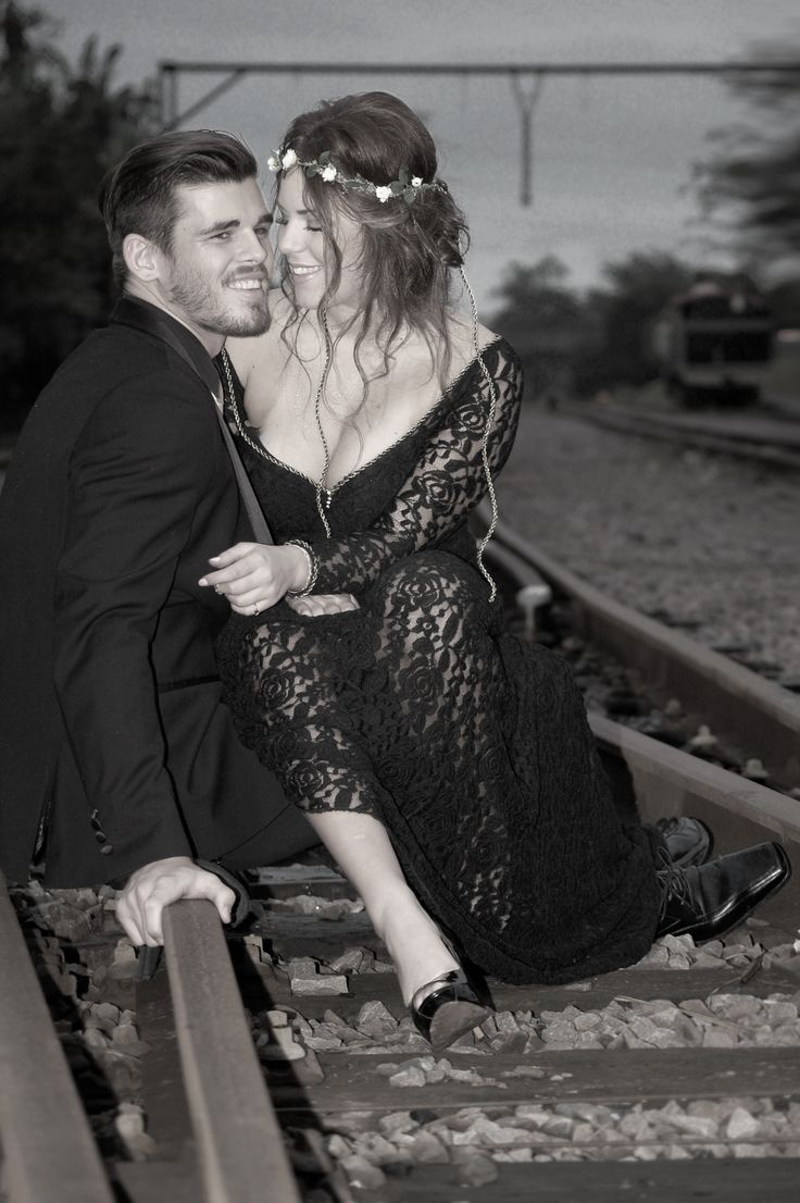 Sarah and Cole, Matric Dance - May 2014, outside the Stoker's Arms, old Kloof Train Station.