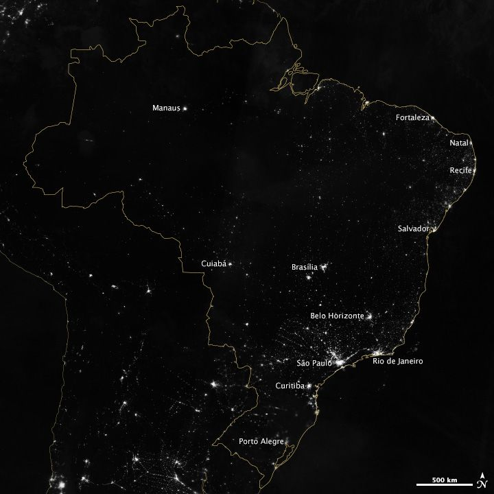 55 best city lights from space images on pinterest city lights brazil at night twelve cities in south americas largest country will host games in the gumiabroncs Images