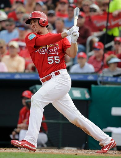 St. Louis Cardinals Team Photos - ESPN St. Louis Cardinals' Stephen Piscotty follows through on an RBI double during the third inning of an exhibition spring training baseball game against the New York Mets Monday, March 7, 2016, in Jupiter, Fla. (AP Photo/Jeff Roberson)