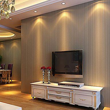 Contemporary Wallpaper Art Deco 3D Simple Stripe Wallpaper Wall Covering Non-woven Fabric Wall Art – AUD $ 61.48