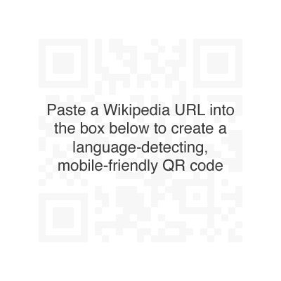 QRpedia will create a QR code for any Wikipedia URL.  Great for many classroom activities! Let your imagination move you forward.