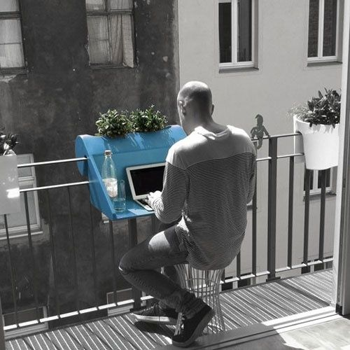 The Hook-On Balcony Desk | 33 Insanely Clever Things Your Small Apartment Needs So awesome!