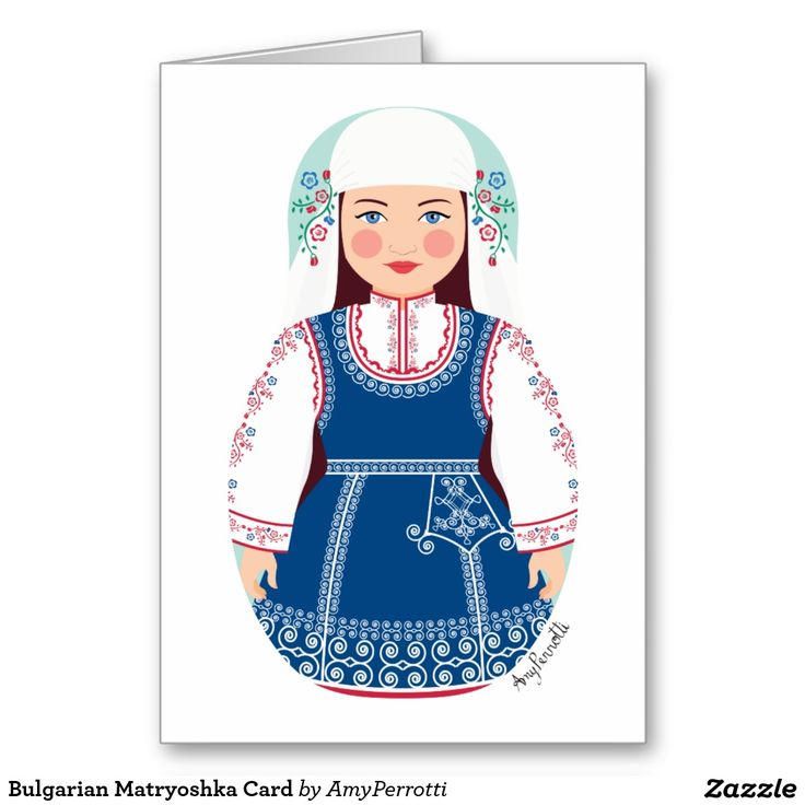 Bulgarian Matryoshka Card