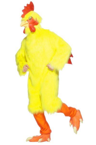 Gele kip kostuum voor volwassenen