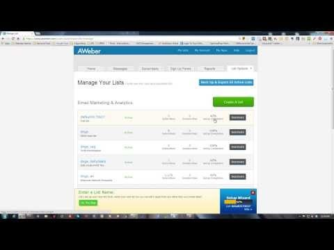 ▶ How to create a list in Aweber - www.getlifeyoudeserve.com