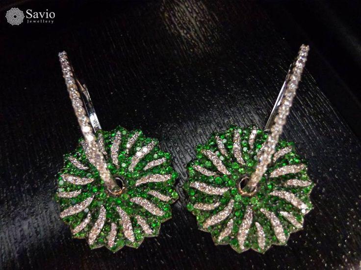 A spark that's as exotic as you!  #Savio #jewellery #jaipur #jewelry #earrings #diamonds #fashion