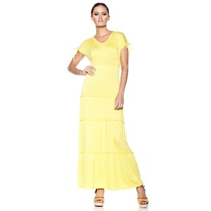 Antthony Jersey Maxi Dress with Tie Shoulders at HSN.com.Maxi Dresses, Jersey Maxis Dresses, Antthoni Jersey