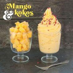 Bjud på en läskande mangodessert med bara två ingredienser! Egen variant, gott med fryst banan också? Prova!