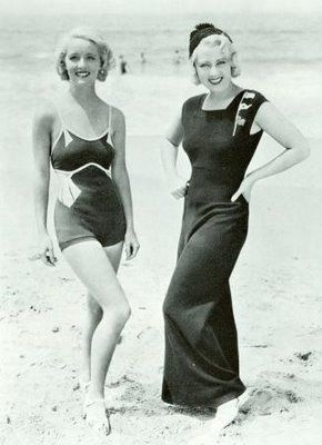 Bette Davis in a swimsuit, and Joan Blondell in beach pajamas in the early 1930's. The fabulous costumes are by Warner Brothers genius Orry-Kelly - via Glamoursplash: Mo'N Davis, At The Beaches, Summer Beaches, 1930S, Vintage Summer, 1930 S, Joan Blondel, Bette Davis, Vintage Style