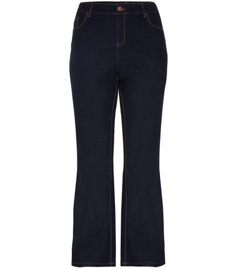 Curves 28-36in Navy Bootcut Jeans  | New Look