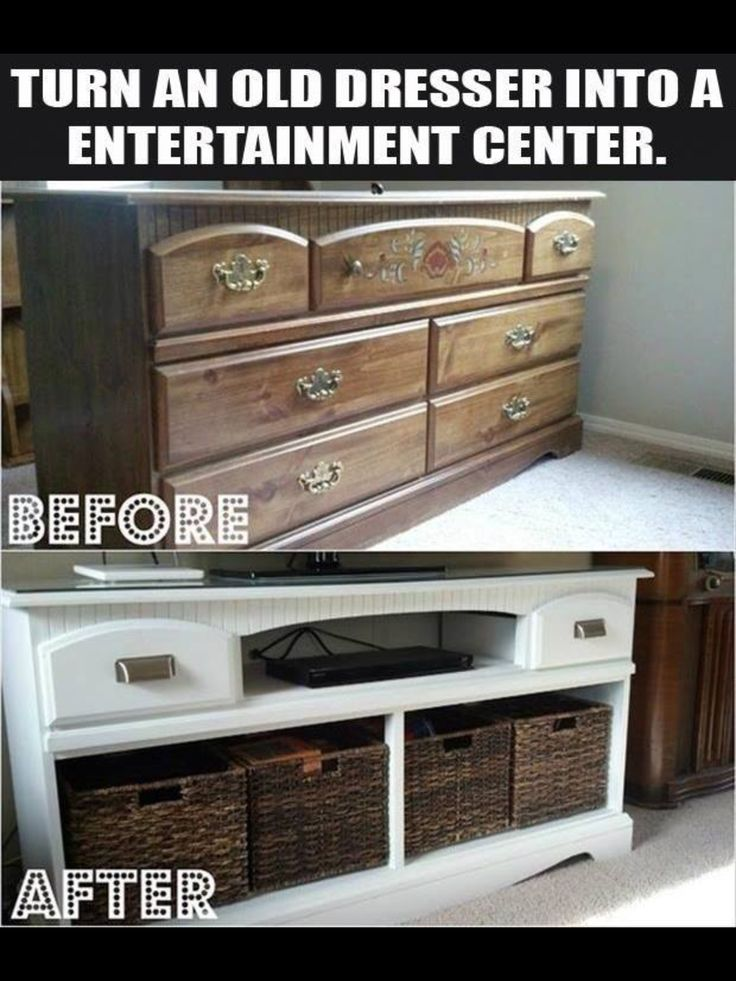 Upcycle of an old dresser  seems like a new coat of paint can do wonders for old furniture