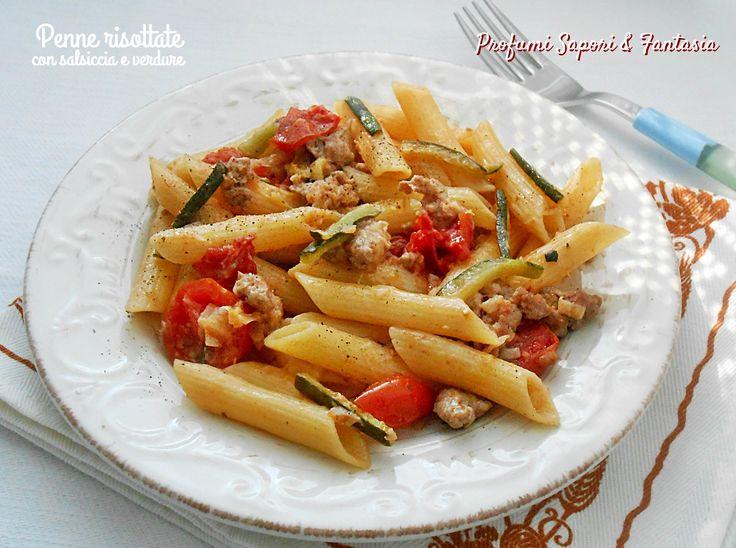 Penne risottate con salsiccia e verdure 2