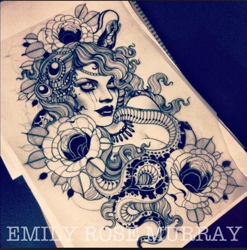 tattoo artwork by emily rose murray tattoo pinterest. Black Bedroom Furniture Sets. Home Design Ideas