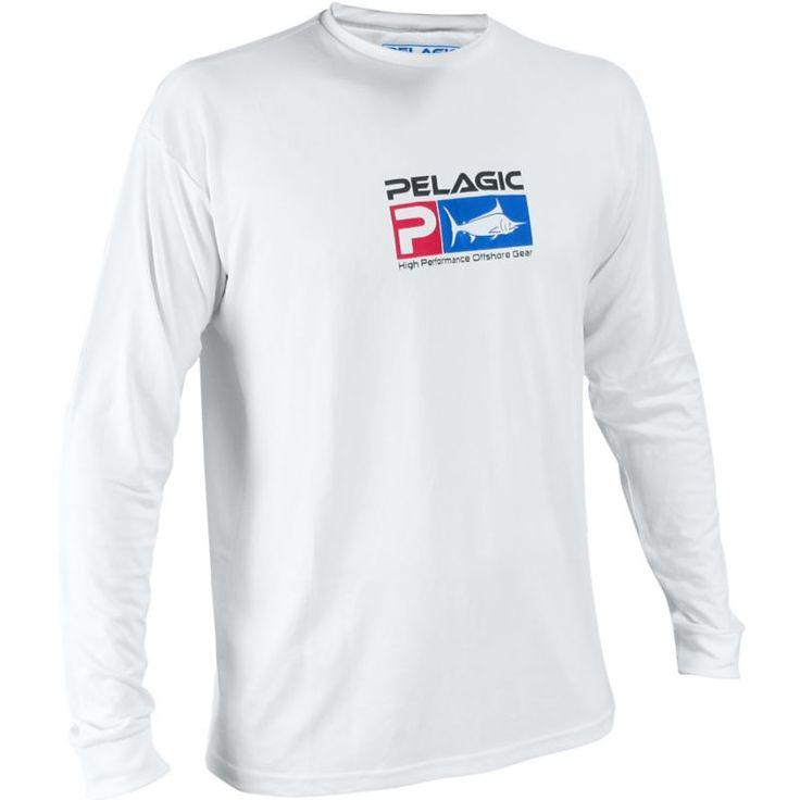 Pelagic Aquatek Long Sleeve Shirt, Men's, Size: Large, White