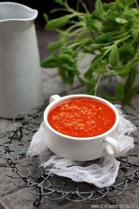 Pomidorowo szałwiowa zupa rybna