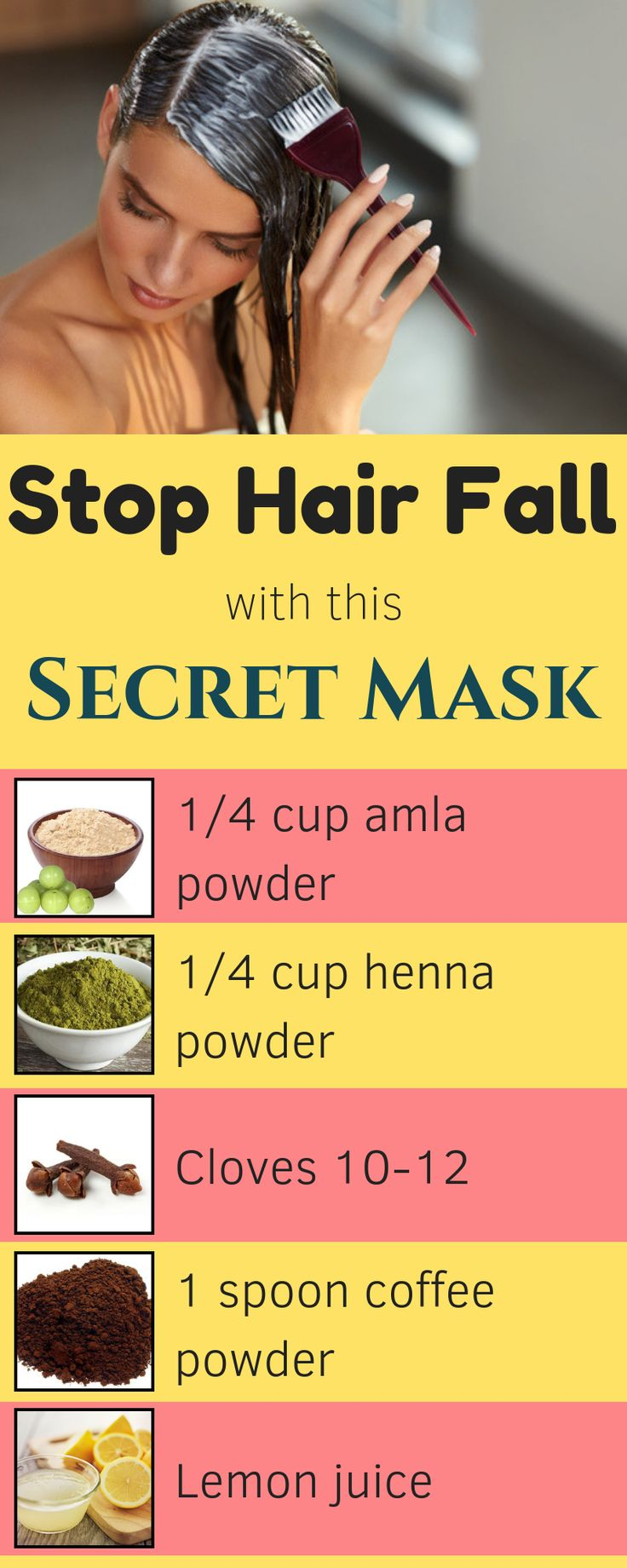 Secret hair masks, after simply 1 use of this you'll not lose a single hair