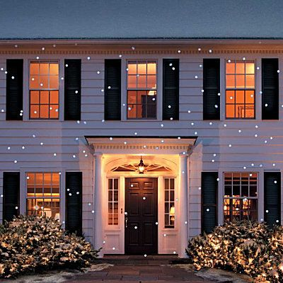 Light Flurry Projector- enjoy the illusion of snowflakes falling on your house