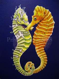 When a seahorse finds its love, they connect at their tails so the current doesn't drift them apart :) love