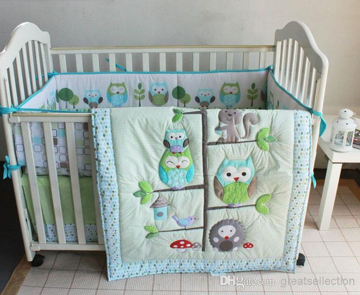 Wholesale cheap baby crib bedding set online, cribs bedding - Find best happy owls and friends three animals embroidered baby cot crib bedding set 7pcs 4 items includes quilt bumper sheet skirt for boy bed kit at discount prices from Chinese children's bedding sets supplier on DHgate.com.