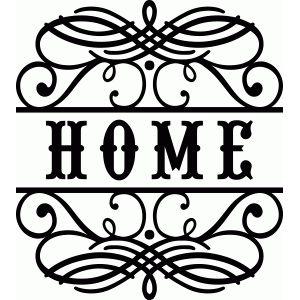 Silhouette Design Store - View Design #59733: home flourish vinyl phrase